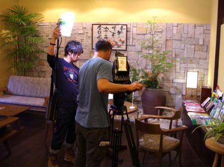 中京テレビの撮影2012年5月22日