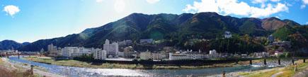 冨岳から下呂温泉を一覧